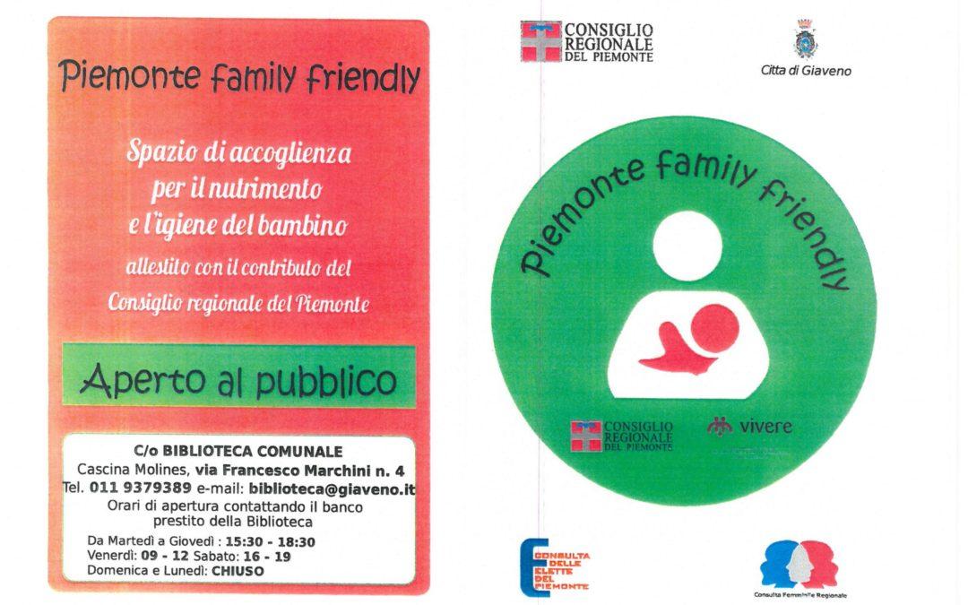 Punto Piemonte Family Friendly di Giaveno – Inaugurazione  mercoledì 13  marzo 2019