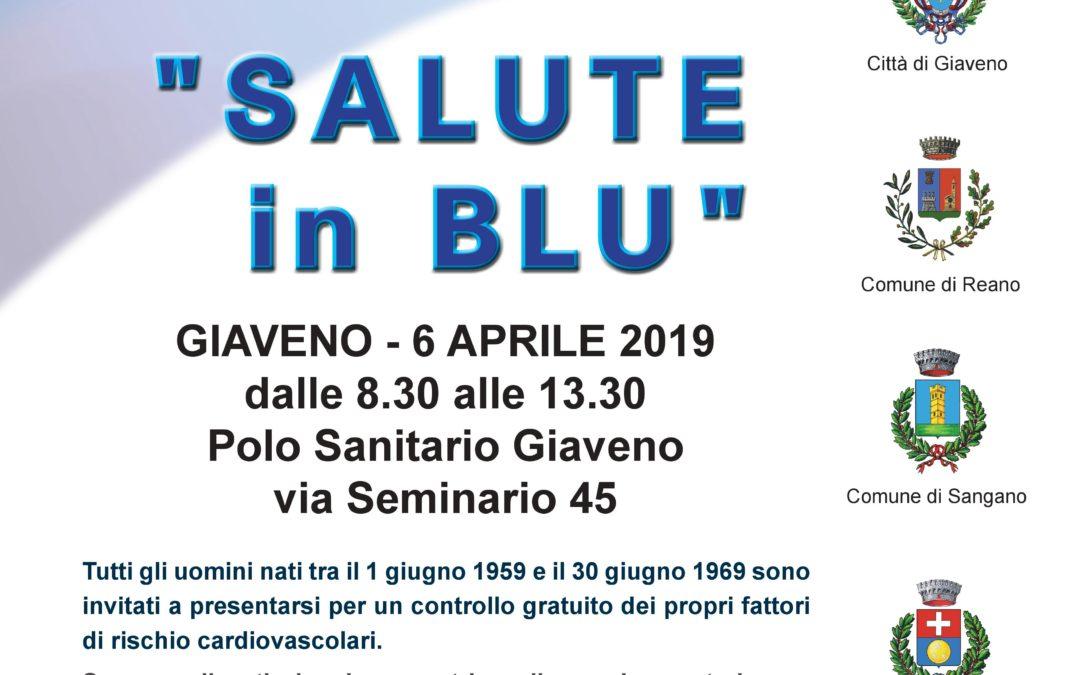 """""""Salute in Blu"""" – Giornata di prevenzione  cardio cerebro vascolare – Sabato 6 aprile 2019"""