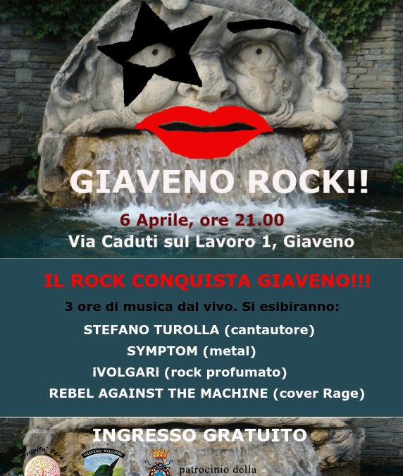 Giaveno rock! sabato 6 aprile 2019