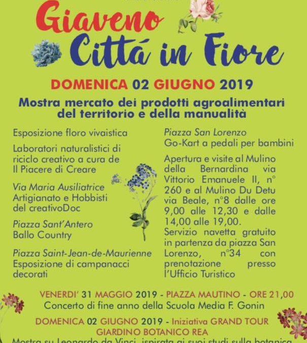Giaveno Città in Fiore – domenica 2 giugno 2019