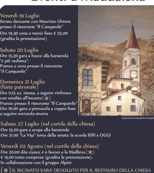 Festa di borgata  Maddalena e della  Santa patrona