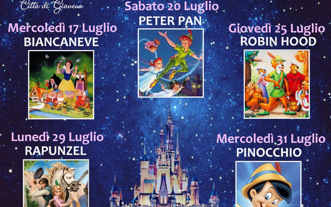 """Cinema sotto le stelle – Rassegna """"Classici Disney""""  da  mercoledì 17 luglio a lunedì 26 agosto 2019"""