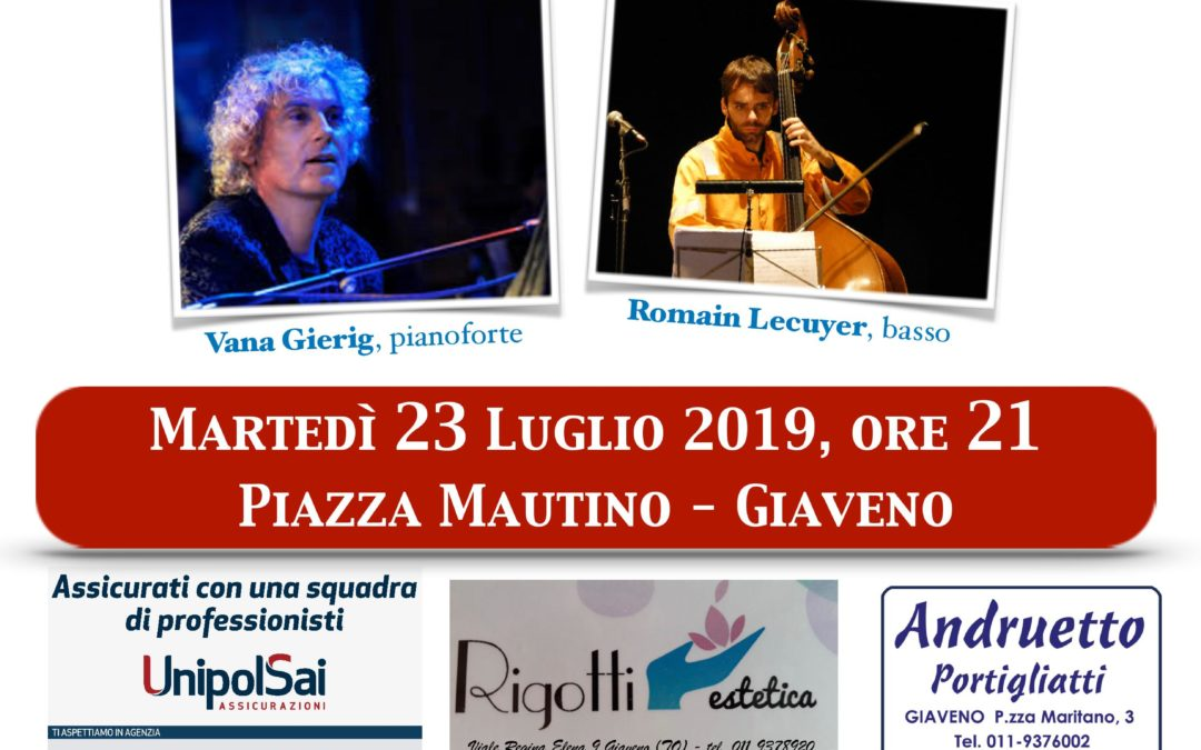 "Vana Gierig Duo: ""Jazz Stories"" – Martedì 23 luglio 2019"