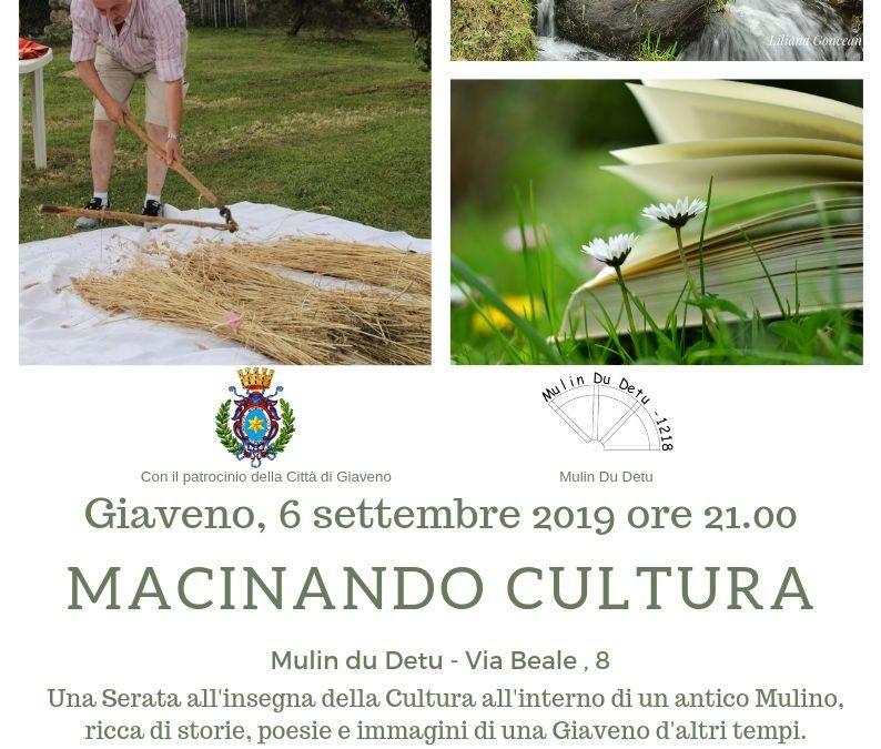 Macinando Cultura – Venerdì 6 settembre 2019