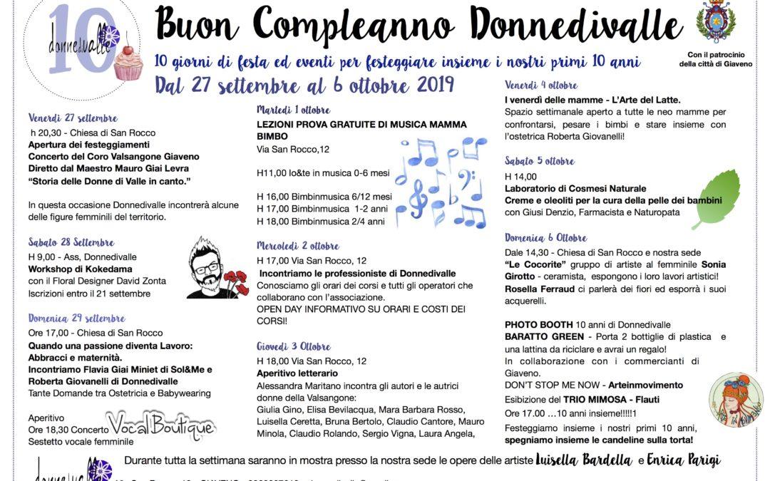 DonneDiValle  festeggia 10 anni di Fondazione
