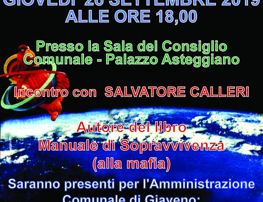 Incontro con Salvatore Calleri – Giovedì 26 Settembre 2019