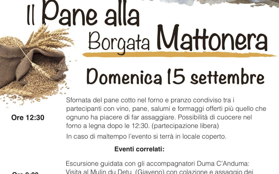 Il Pane alla Borgata Mattonera (Coazze) – Domenica 15 settembre 2019