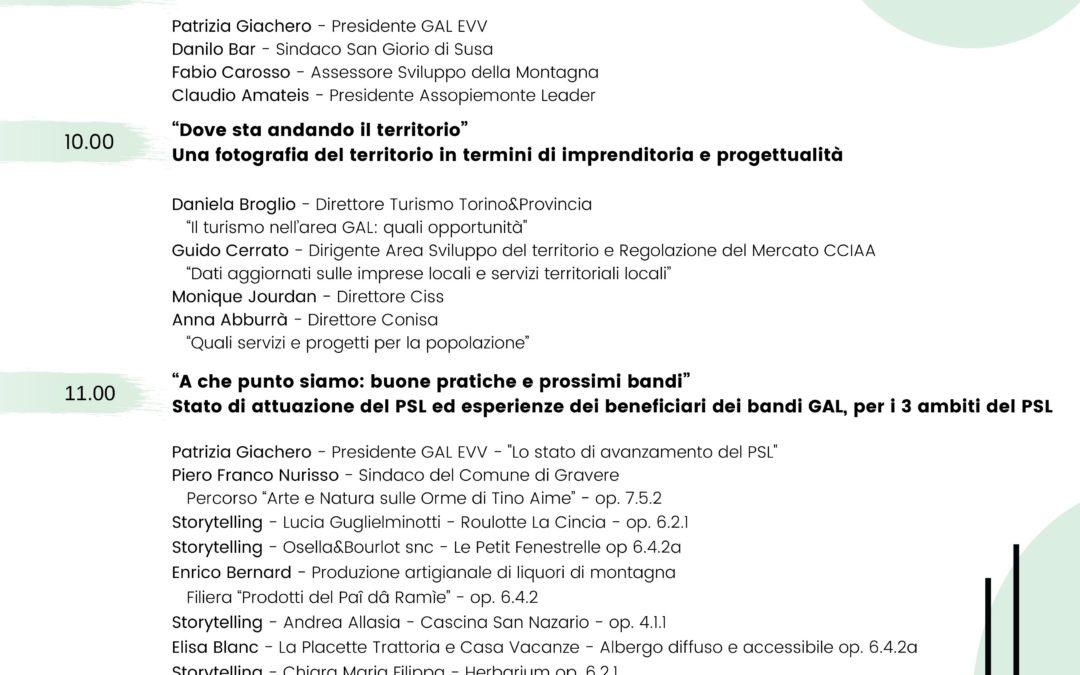 Giornata di presentazione stato di attuazione del P.S.L. del G.A.L. Escartons e Valli Valdesi