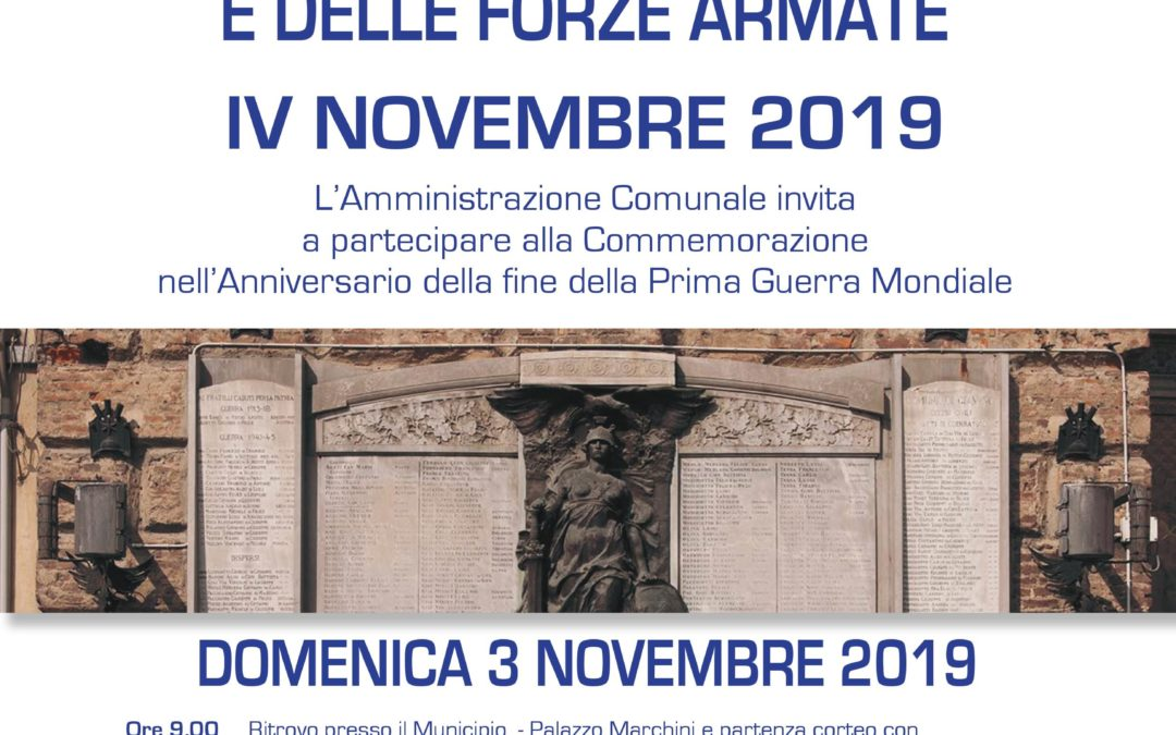 Commemorazione IV Novembre – Domenica 3 novembre 2019