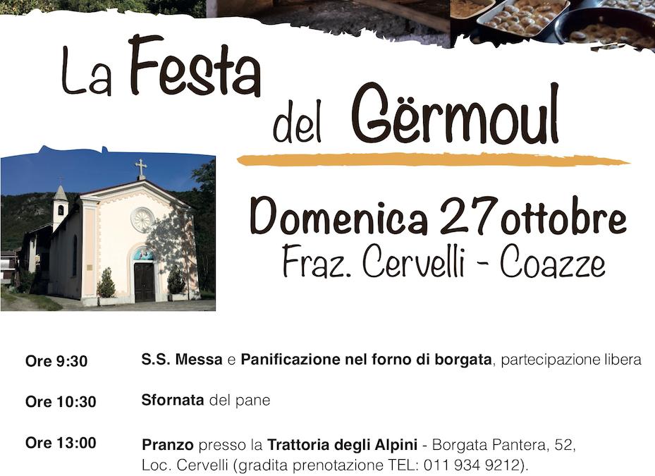 La Festa del Germoul – domenica 27 ottobre 2019 a Frazione Cervelli Coazze