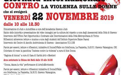 Giornata Internazionale Contro la Violenza sulle Donne 2019  – Iniziative del 22 e 25 novembre 2019