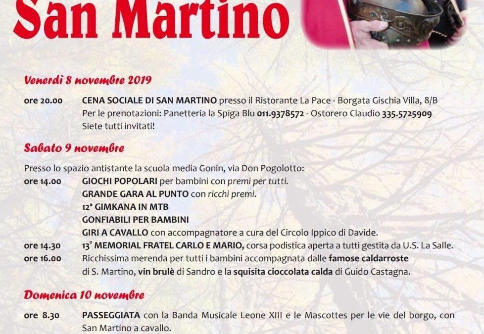 Festa di San Martino  – da venerdì 8 a domenica 10 novembre 2019