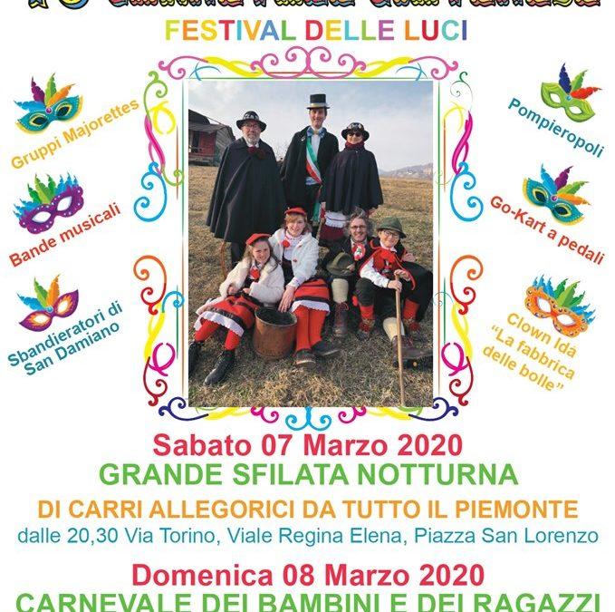 70° Carnevale Giavenese –  sabato 7 e domenica 8 marzo 2020
