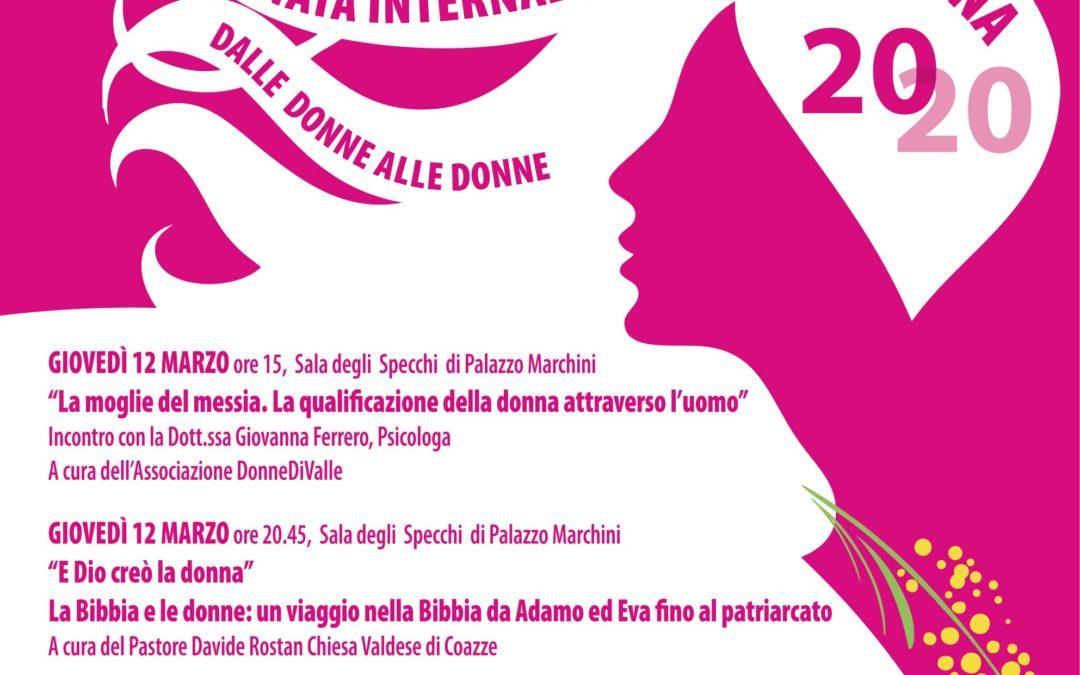 ANNULLATE   LE INIZIATIVE  DEL PROGRAMMA   PER  LA  Giornata Internazionale della Donna 2020