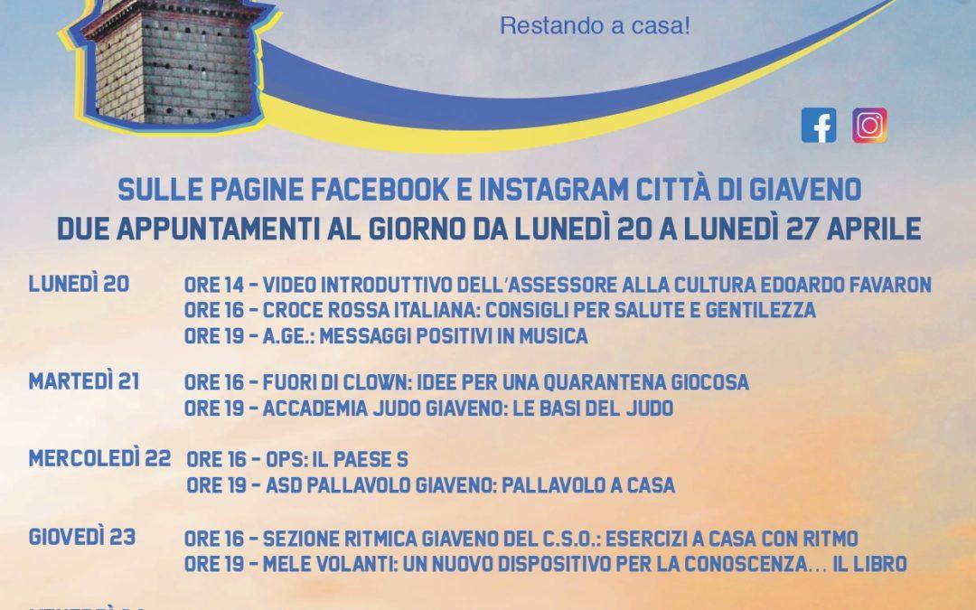 """""""In onda"""" i video delle associazioni per #Giavenononsiferma …Restando a casa"""