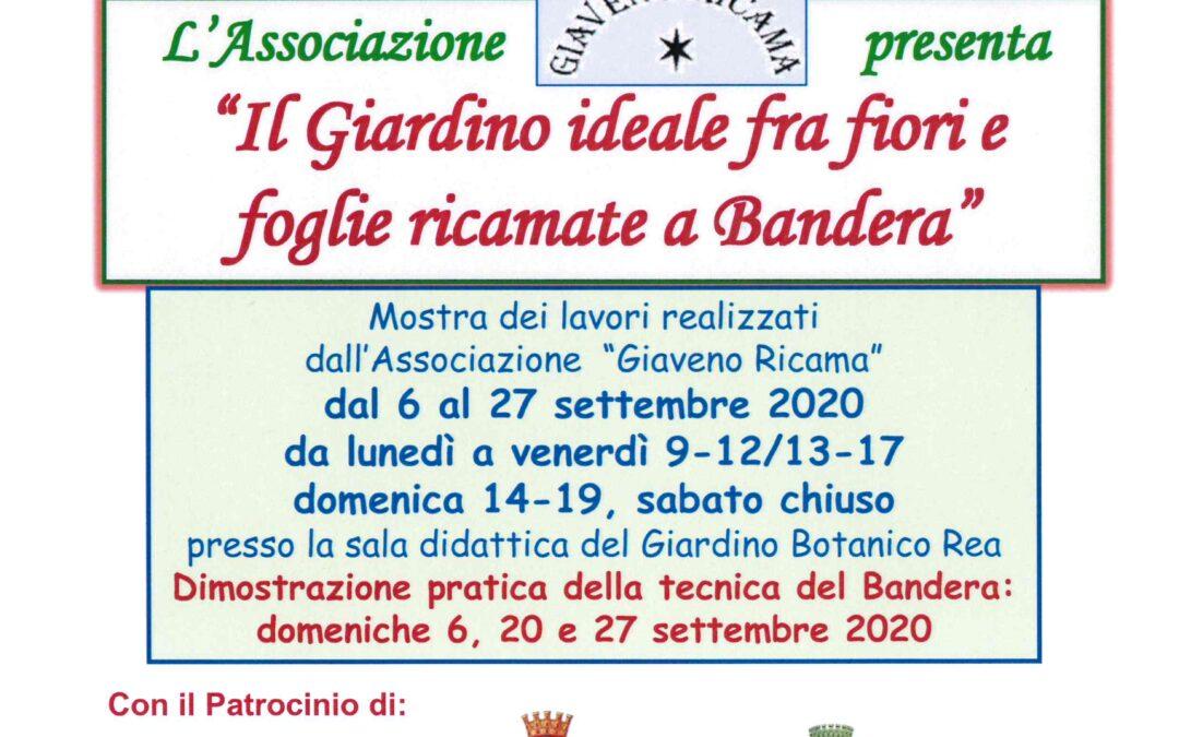 Il Giardino ideale fra fiori e foglie ricamate a Bandera  – mostra  dal 6 al 27 settembre  2020 al REA