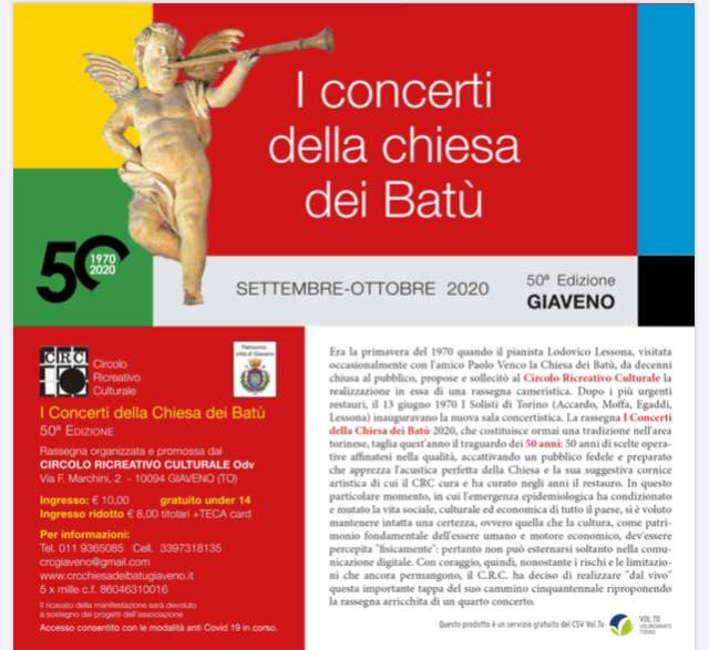 I Concerti della Chiesa dei Batù – 50° edizione