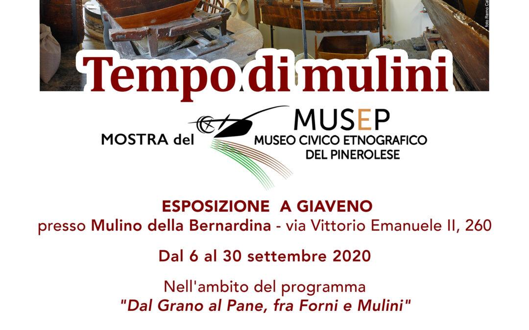 Mostra  Tempo di Mulini al Mulino delle Bernardina dal 6 al 30 settembre 2020