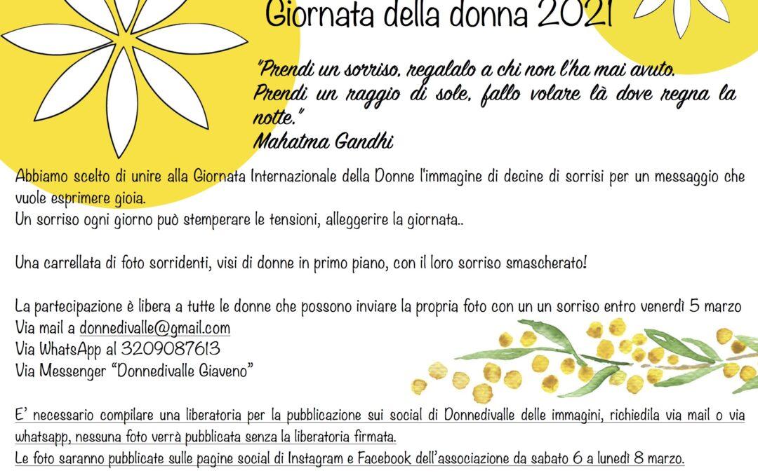 """""""Prendi un sorriso, regalalo a chi non l'ha mai avuto"""" – Iniziativa di DonneDiValle  per la Giornata Internazionale della Donna 2021"""