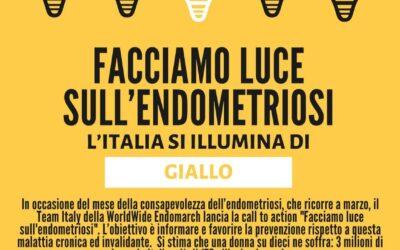 FACCIAMO LUCE SULL'ENDOMETRIOSI – 27 marzo 2021 Giornata Mondiale dedicata all'endometriosi