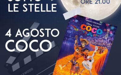 """4 AGOSTO – CINEMA SOTTO LE STELLE """"COCO""""- GIAVENO SUMMER VILLAGE"""