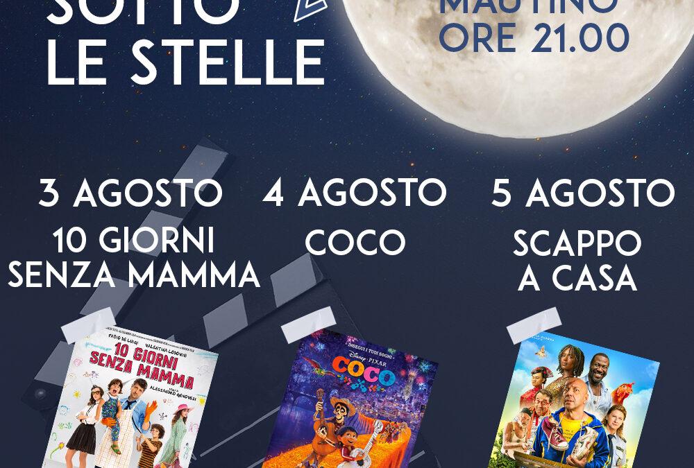 3 – 4 – 5 AGOSTO 2021 –  TRE GIORNI DI CINEMA SOTTO LE STELLE – GIAVENO SUMMER VILLAGE