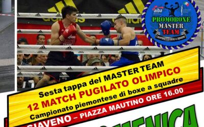 PUGILATO OLIMPICO – SESTA TAPPA DEL MASTER TEAM –  19 SETTEMBRE 2021